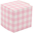 2 x 2 x 2 Pink Gingham Glossy Gift Box - 1