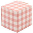 2 x 2 x 2 Peach Gingham Glossy Gift Box