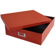 12 3/4 x 14 1/2 x 3 3/4 Red Heavy Duty Box