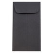 Black #6 Coin Envelopes - 3 3/8 x 6 - 1