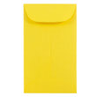 Yellow #6 Coin Envelopes - 3 3/8 x 6 - 1