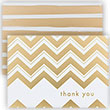 Foil Stripe Thank You Card Sets - 1