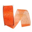 Orange Sheer Glitter Ribbon - 1
