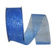 Blue Sheer Glitter Ribbon
