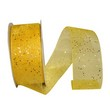 Yellow Sheer Glitter Ribbon - 1
