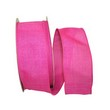 Pink Linen Wired Ribbon - 1