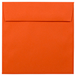 Orange 5 1/2 x 5 1/2 Square Envelopes - 1