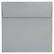 Silver and Grey 7 1/2 x 7 1/2 Square Envelopes - 1