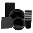 Black Disposable Tableware