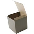 4 x 4 x 4 Open Lid Brown Rib Gift Box