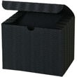 4 1/2 x 4 1/2 x 6 Black Corrugated Wave Gift Box - 1