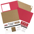 Brown Kraft & Red Labels