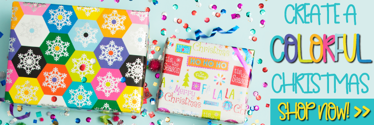 Colorful Christmas Wrapping Banner