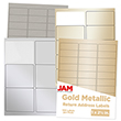 Silver & Gold Metallic Labels - 1