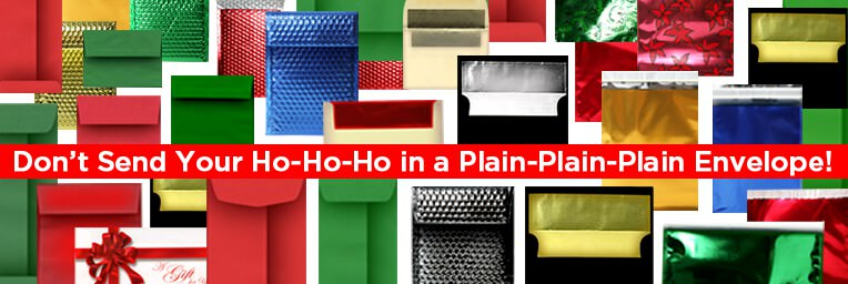 Holiday Envelopes HoHoHo Plain Plain Plain