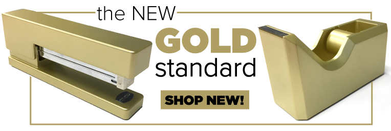 NEW Gold Staplers and Dispensers