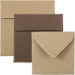Chocolate Brown & Brown Kraft Paper Bag Squares - 1