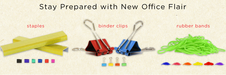 Staples Binder Clips Rubber Bands